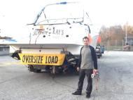 over size load Transport de bateau Jonathan Langevin
